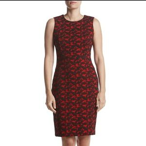 NWT // Calvin Klein Jacquard Sheath Dress